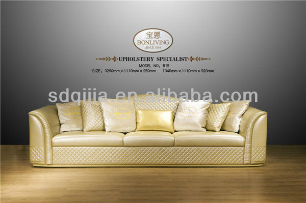 Classic Italian style Luxury leather sofa set living room furniture