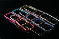 Double color gold edge aluminum metal bumper for samsung galaxy s4