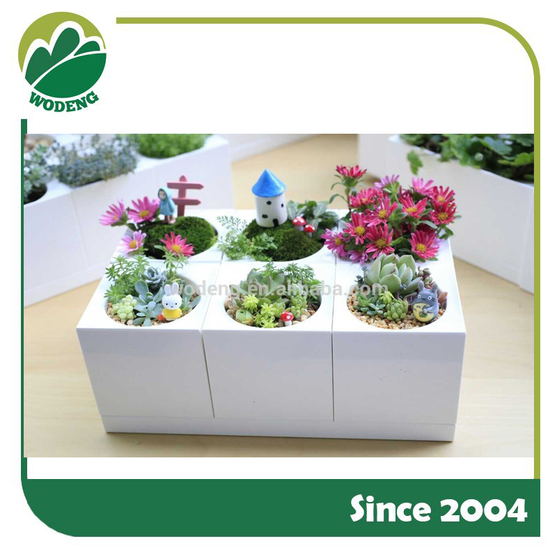 easy-clean decorative flowerpot with clock