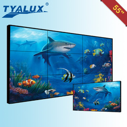 Popular newest 47inch led ultra narrow bezel lcd video wall hd 4.9mm bezel 4K display supported