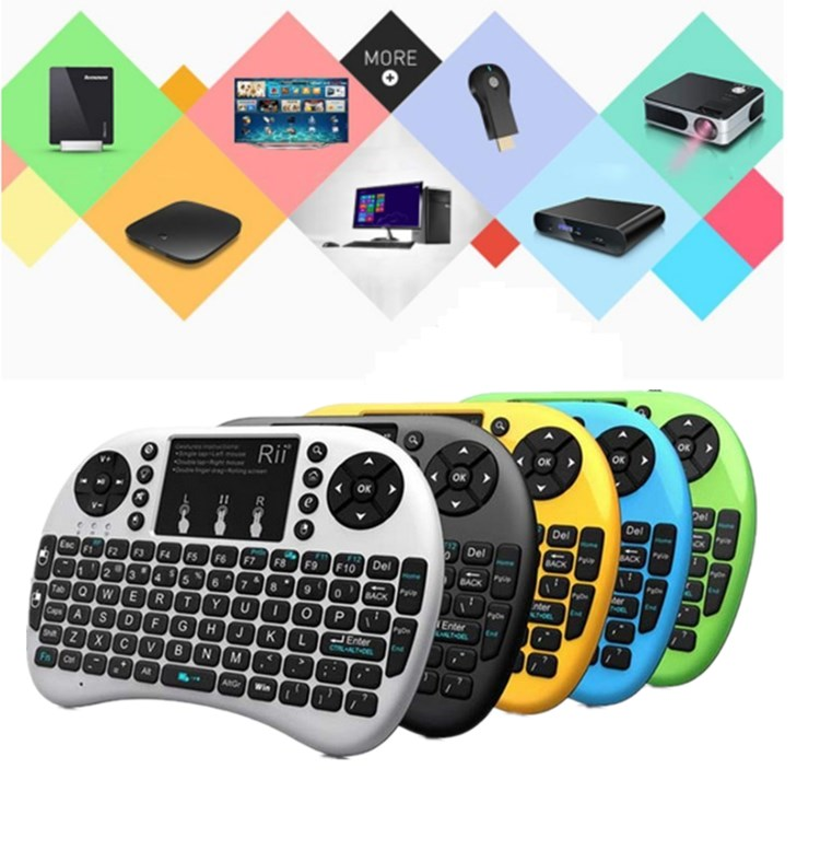 Hot selling Mini i8 2.4GHz Wireless Remote Control and keyboard air mouse backlit keyboard