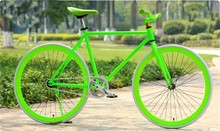 superior quality 700C fixed gear bike/fluorescent green track bike/fixie bike with fluorescent green poeder coating technology