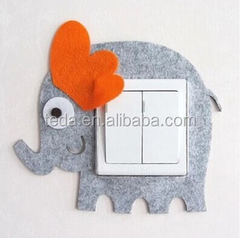 Elephant cartoon lights wall sticker for home decor