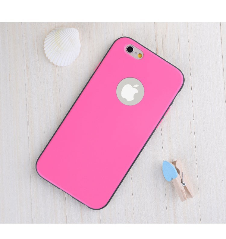 Two color match phone back case for iphone6 2 in 1 cover