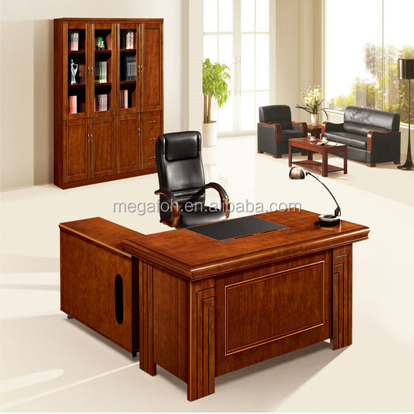 Wooden executive boss desk usa style antique office furniture for manager(FOH-HS-A1800)