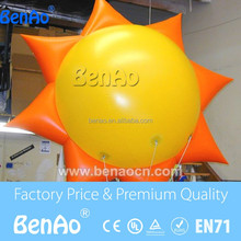 AO334 Custom Giant Inflatable Sun/flying Cartoon/helium Balloon