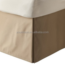 Hotel classic cotton bed skirt/dust ruffle with pleated styling