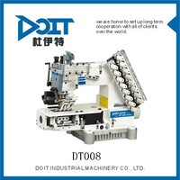 DT008-08064P 8 needle half cylinder type tape attaching double chain stitch cloth sewing machine