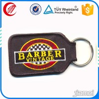 Cheap customized keychain keyring OEM embroidery fabric key chain