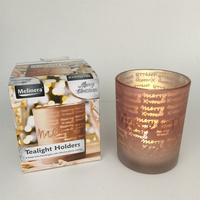 Yes handmade glass mosaic candle holder for christmas