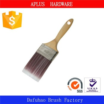 low price woven nylon brush with wooden handle