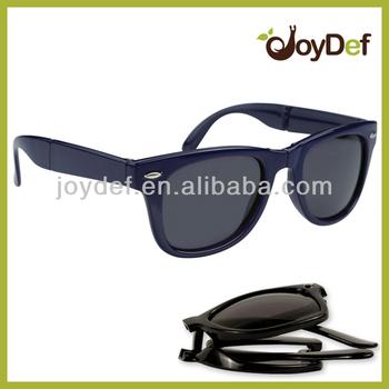 navy blue custom folding glasses china supplier folded sun
