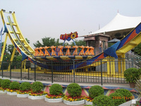 Amusement flying ufo fun fair rides adult outdoor games