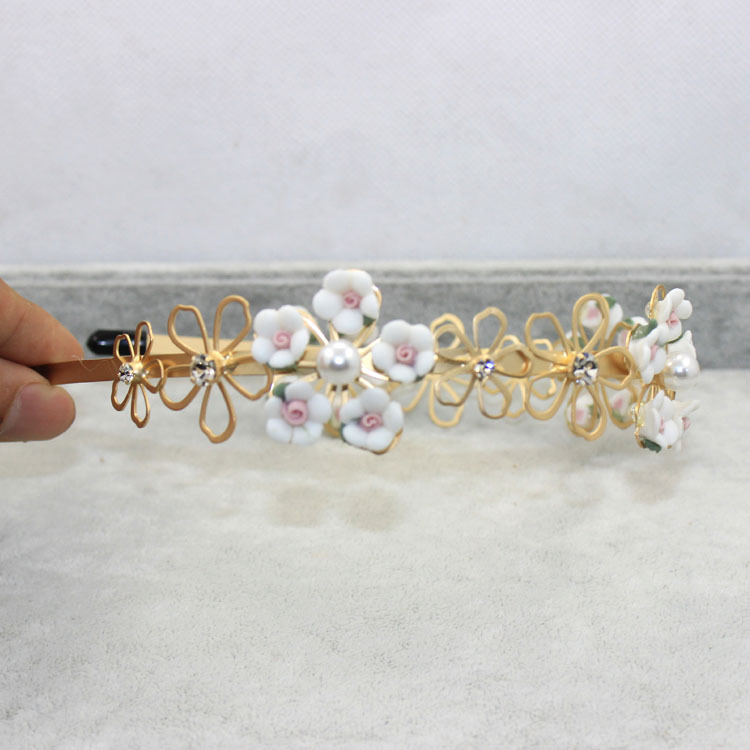 Fashion hair jewelry flower tiaras and crown for girls