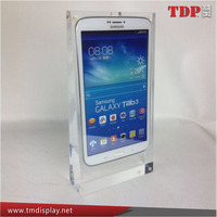 mobile phone display shelf cellphone holder shop counter table design to display mobile phone