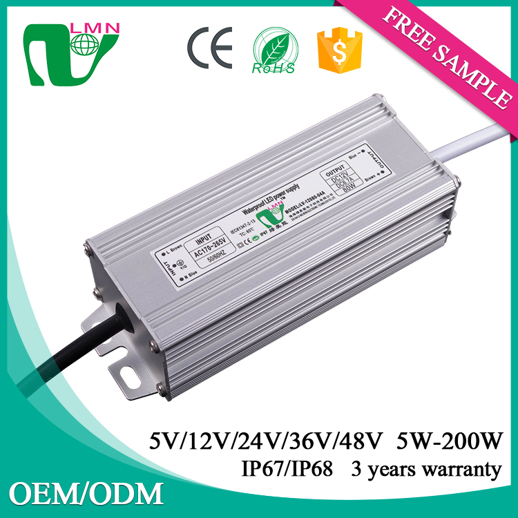 80w power supply CE listed high pf 6.67A 80w constant voltage power supply 12v for led strip light