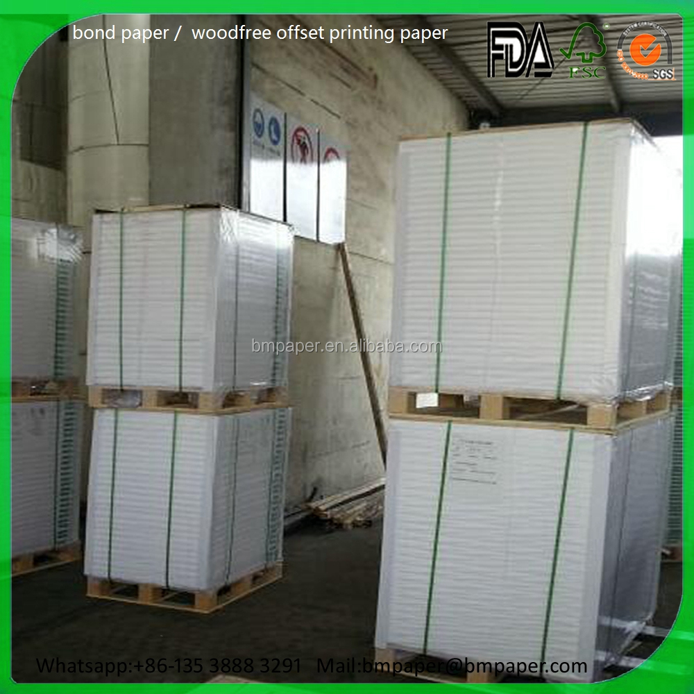 Offset Paper Indonesia Paper Factory / Mill 60 gsm Paper