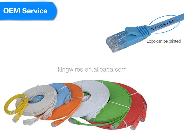 Cat.6 RJ45 Ultra Thin Flat Ethernet Network Cable Patch Internet Lan cable