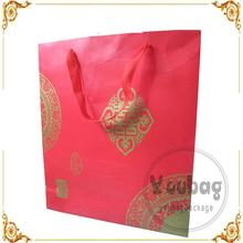 Custom designed euro large paper shopping bags with handle