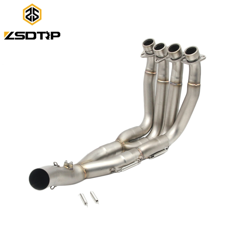 Hot selling 51mm stainless steel motorcycle middle <strong>exhaust</strong> pipe full <strong>system</strong> for YZF-R6 with sensor