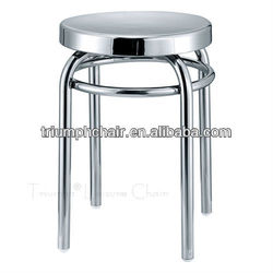 Triumph brushed aluminum counter stool / stainless steel round lab stool