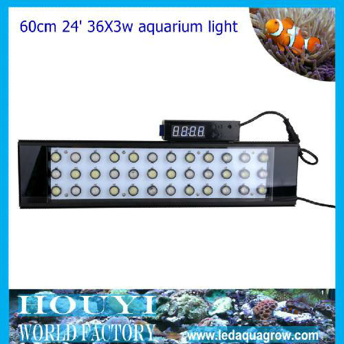 Factory wholesale led coral reef aquarium light completely mimic sunrise,sunset,lunar cycle remote automatic and manual dimmable