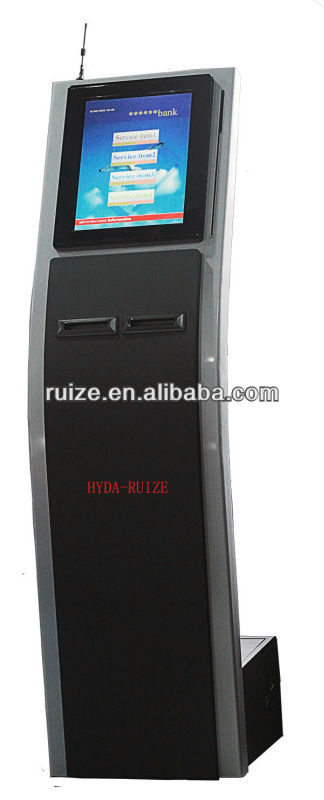 wireless ticket dispenser/wireless queue system/dual printers queue machine