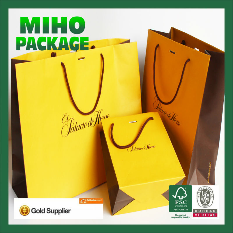 2013 best seller paper bag with logo print/paper bag specification/paper bag making by hand