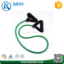 Heavy Duty Latex Exercise Tube Door Gym Resistance Band With Foam Handles