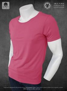 100% Organic eco friendly Peru pima cotton 100% certified blank t- shirt