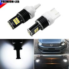6000k Xenon White 15-SMD-3030 7440 T20 LED Bulbs for Daytime DRL Lights