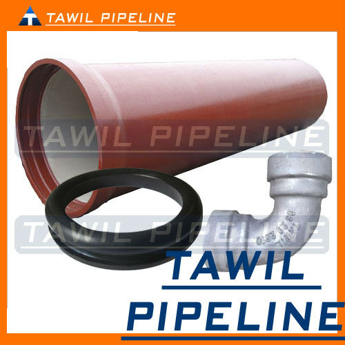 TAWIL TAIYUAN ductile iron 450-12 zinc primer bitumen coating cement FBE lining pipe fittings