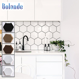 Bathroom or kitchen hexagon wall tiles from china grey black white ceramic hexagonal wall tiles