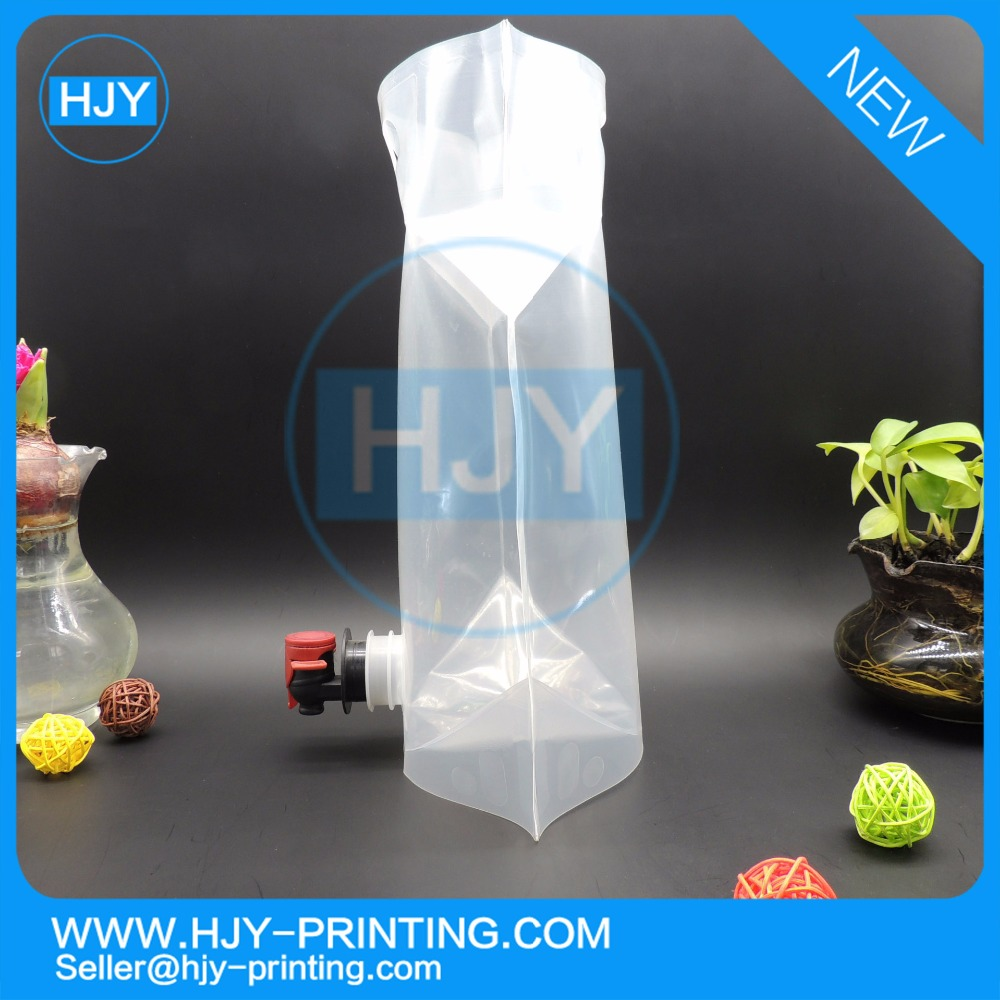 Hot Sell Liquid Package 3L Customized Plastic Juice Drink Spout Bag