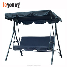 3 Seater Canopy Outdoor Swing Chair Bed With Metal Frame