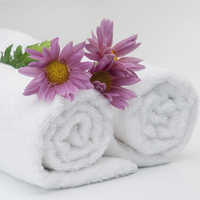Super Soft High Quality White Towels For Hotel