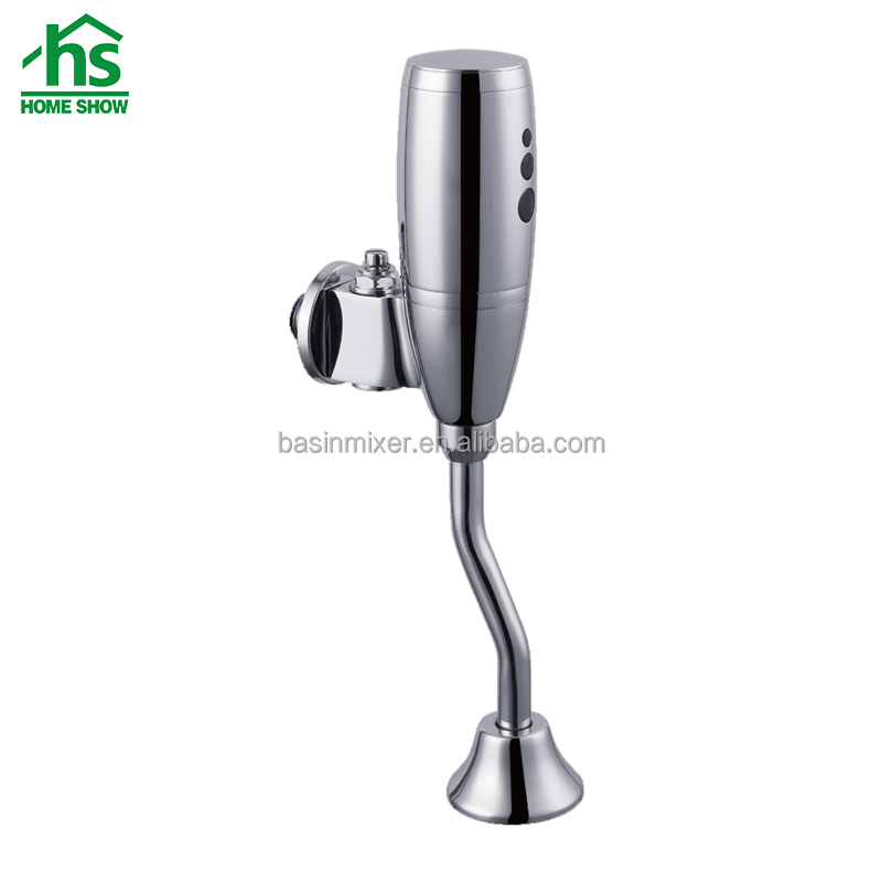 Wall mounted full brass chrome sensor urinal flush valve