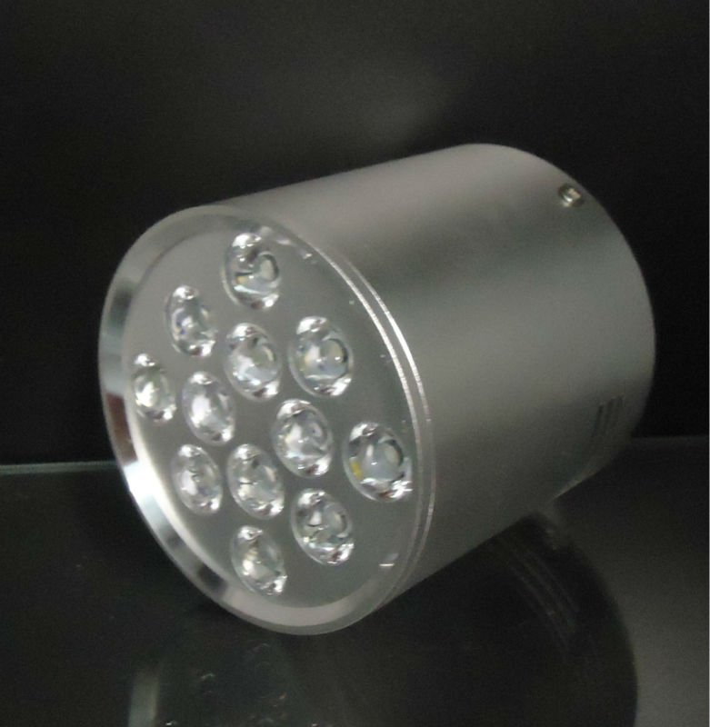 LED LAMP SURFACE MOUNTED SILVER ROUND II HIGH POWER LED 12W (12x1W) 1200LM 230V WARM WHITE 3000K