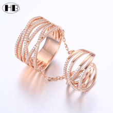 Best selling proudcts 2017 in usa fashion jewelry 925 sterling silver double rose gold ring