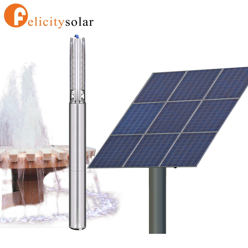 AC submersible 2HP solar pumps water pump for irrigation project
