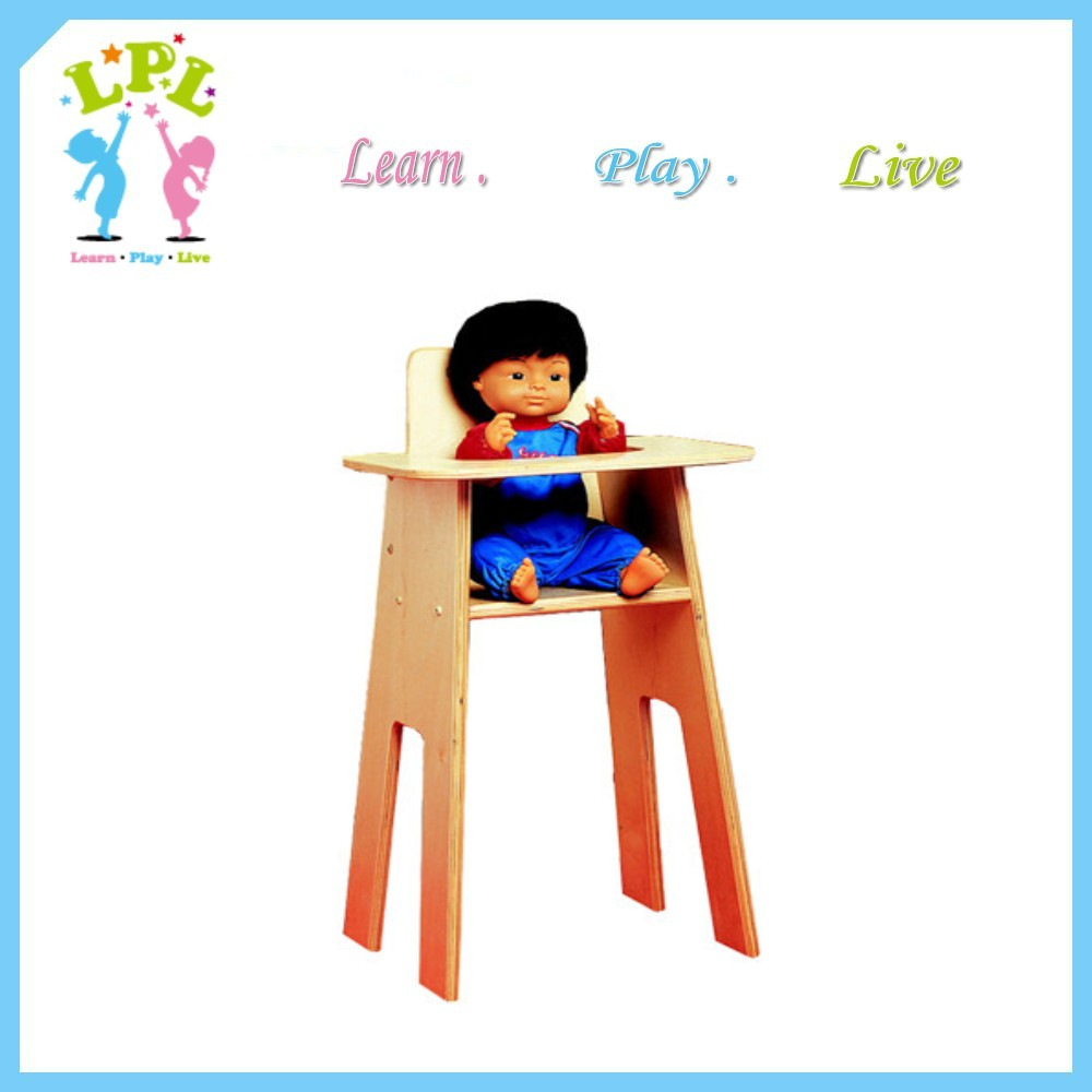 Wholesale custom high quality wood baby toy high chair baby furniture for sale