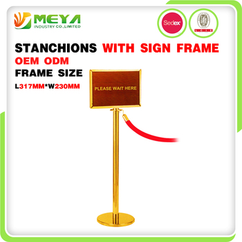 Stainless Steel Exhibition Rope Railing Advertising Barrier Gate Sign Holder Floor Metal Display Poster Stand
