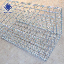 factory supply anti-corrosive beautiful form factory supply galvanized square welded gabion box/caged wall stone