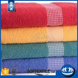 100 percent cotton High Quality European Style Checks Patterns Patterns Bath Towel