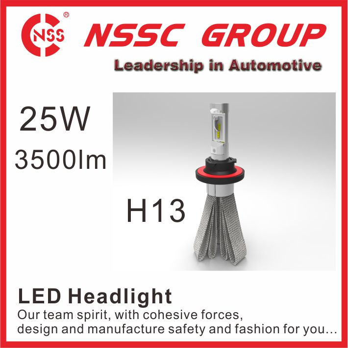 NSSC LED headlight bulbs 12v 25w h4 high low beam auto led manufacture