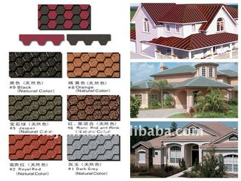 produce high quality Colored asphalt roof shingle and asphalt roofing tile