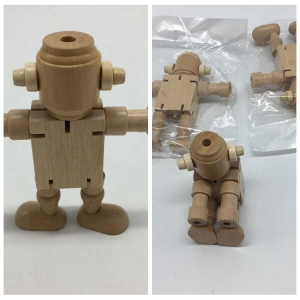 creative toys cartoon model wooden robot for sale