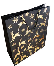 Fantastic Decorative Christmas Paper Bag with metalic foil
