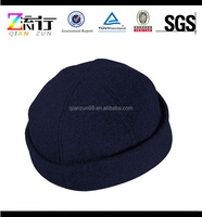 Navy Blue Custom 100% Wool Winter 6 Panel Beanies Hat