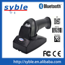 2200mA battery Bluetooth Barcode Scanner Wireless with Cradle and USB Cable